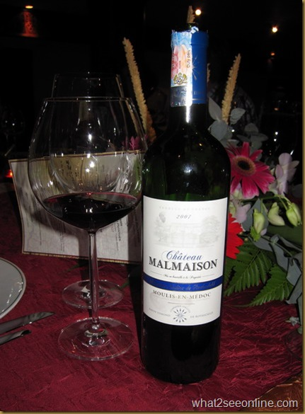Chateau Malmaison 2007 - Baron Edmond de Rothschild's French Winemakers Dinner at Tiffins by CK Lam at what2seeonline.com