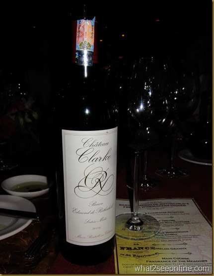 Chateau Clarkes 2006 - Baron Edmond de Rothschild's French Winemakers Dinner at Tiffins by CK Lam at what2seeonline.com