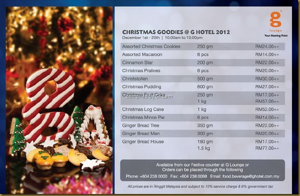 G HOTEL Christmas & New Year Dining in Penang by what2seeonline.com